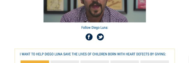Surgeons of Hope Diego Luna Landing Page